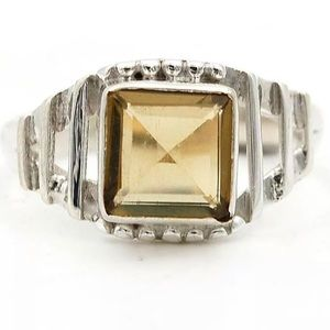 Jewelry - Natural Smokey Topaz 925 Ring Size 7